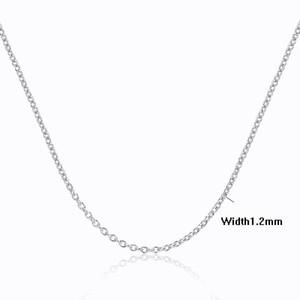 Windshow 4sizes Disponibile 925 Sterling Silver Cross Rolo catena delle ragazze delle donne della collana di 40/45/50/60 centimetri + 5cm monili kolye Collares