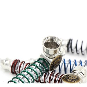 Luminous Bong Glowing Glass Pipe Popular Metal Light Smoking Pipes Mini Tobacco Cigarettes Pipes Men Colorful Port jllDKM eatout