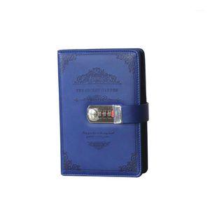 Suprimentos Revistas de Alunos Escritório Escritório Agenda Password Notebook Negócio Vintage Mão Livro Retro Papelaria Presentes Lock Diary1