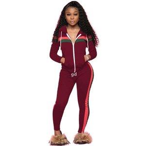 Cardigan à capuche femme 2pcs costume à manches longues Striped Womens succursuits occasionnel Panaled Plus Taille Vêtements femme01.