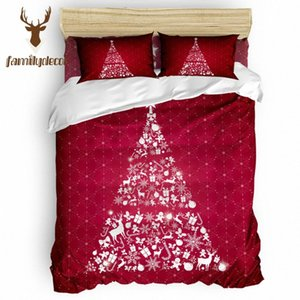 Family Decor Red Merry Christams 4 Piece Bedding Sets National Flag Day Thanksgiving Day Black And White Comforter Sets Children lX64#