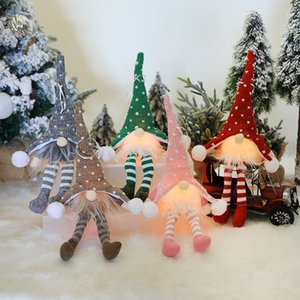 LED Light Christmas Faceless Santa Claus Doll Pendant Home Decoration New Year Party Christmas Tree Ornaments Decor