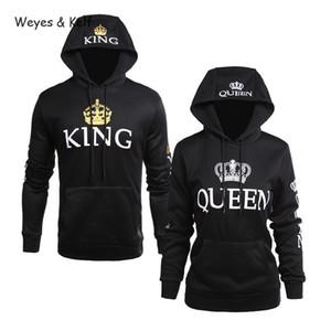 Weyes Kelf Queen König gedruckt Langärmlige Hoodies Paar Sweatershirt 2020 Hoodies Frau Sweatshirt Langarm Valentines LJ201103