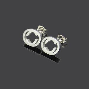 2021 Nuevas joyas extravagantes Hombres Stud Stud Diseño clásico Pendientes de acero inoxidable Flor de plata Elagant Mujeres Stud Pendientes Estilo de moda