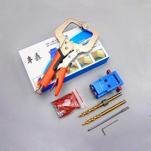 Woodworking Oblique hole puncher Pocket Hole Jig Kit For Wood Working & Joinery + Step Drill Bit DIY woodworking aids Tool Set