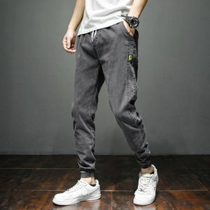 Brother Wang Brand 2020 New Men's Elastic Jeans Fashion Slim Jeans Casual Pants Trousers Jean Male
