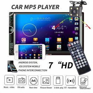 مزدوجة الدين سيارة ستيريو Autoradio 2 الدين راديو السيارة 7 HD الوسائط المتعددة لاعب الشاشات التي تعمل باللمس السيارات صوت ستيريو بلوتوث FM الروبوت jCR1 #