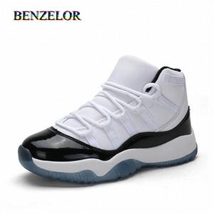 BENZELOR High Top Спортивная обувь для мальчиков Кроссовки Детские футбольные бутсы детей Повседневный подросток дышащий высокого качества irU9 #