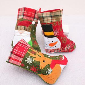 Decor Natal Papai Noel Meias Doce Meias presente Xmas Tree Pendant personalizado natal lotação decoracion navidad hogar F9