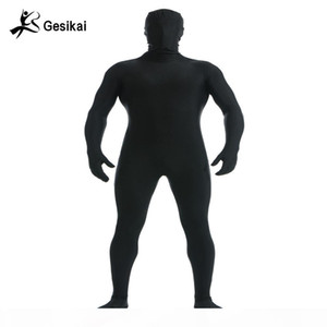Gesikai Men's Spandex Zentai Lycra Full Bodysuit Men's Zentai Suit Custom Second Skin Tights Suit Halloween Costume
