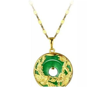 Wholesale high quality S925 silver plated Maitreya agate inlay colorful jade buddha pendant necklace for womenMGFam (173P) Dragon and o22