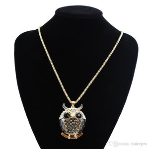 Ожерелье Подвеска марка Подвески Урожай кристалл Кубический циркон Алмазные Fine Jewelry Сова Подвеска Ожерелье