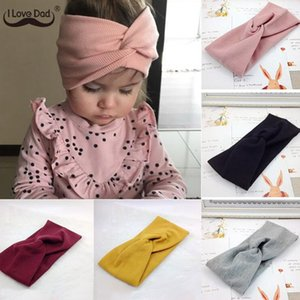 Winter Baby Hat Headband Soft Elastic Cotton Baby Girl Hat Solid Color Kids Cap Bonnet Knit Girls Hats Hairband Baby Accessories warm hats