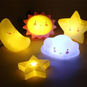 Moon Lamp Star Light Children's Night Light Colored Lights for Bedroom Decoration Unicorn Lamp 3D Cloud Ice Cream Romantic Gift