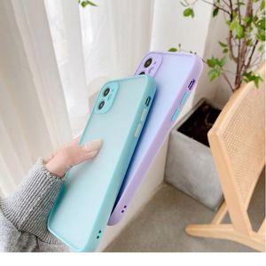 Sile Matte Bumper Phone Case For Iphone 12 11 Pro Xr X Xs Max Mini 6s 6 8 7 Plus Se2 Tra jllBvN