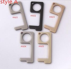 Metal contactless safety door opener non-contact elevator button tool key hook anti bacterial hands free door handle opener tool MY-inf0001
