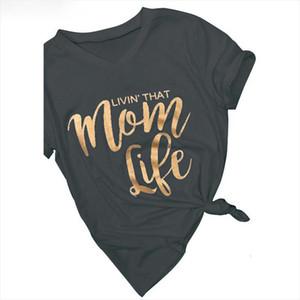 Women Tshirt Letter Printed Mom Life T Shirt Women Summer Casual Harajuku Tees Shirts Poleras Femme Plus Size