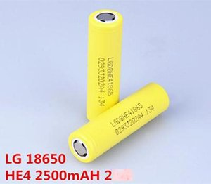 LG HE4 HG2 MH1 F1L B4 18650 Pil 2500 2600 3000 3200 3350mAh 18650 Piller Şarjlı Lityum% 100 Yüksek Kalite