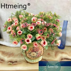 Htmeing Silk Artificial Flowers Peony Rose Flower for Home Table Vases Wedding DIY Party Decor