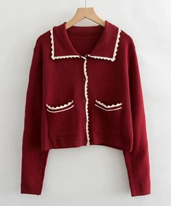 Old friends Sigh   good morning diary   Retro Sweater Jacket Women's autumn cardigan loose and versatile, lazy top and sweater