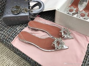 TOp Perfect Quality Amina Shoes Begum Crystal-embellished TPU Slingback Pumps Muaddi Restocks Begum High Heel Slingbacks 10cm 3.5cm flat