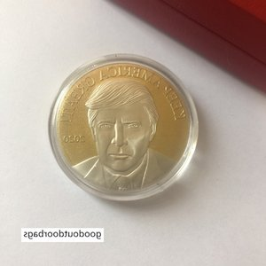 Trump American eagle commemorative coin color commemorative coin collection military fans gold coins