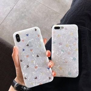 Crystal Cute Love Heart Case For iphone 11 7 8 Plus 7Plus 8Plus 11Pro Glossy Soft IMD Phone Case For iphone XS Max XR X Silicone Cover