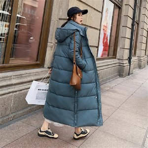 Winter X-long down jacket with hooded fashion warm thick parkas women jacket coat1