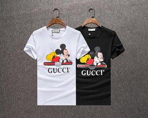 Nouvelle arrivée couleur Camo Cartoon hommes impression lâche t-shirts Amant Hip Hop Sport Casual lâche T-shirts