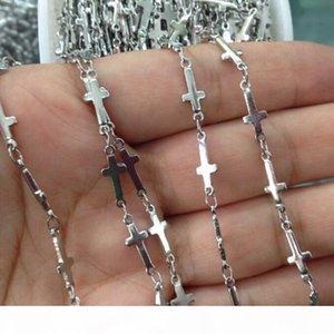 wholesale price 5meter Lot in bulk New Fashion Jewelry Finding Cross Jesus chain Chain Stainless steel DIY Necklace jewlery Marking