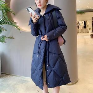 Donne down parkas 2021 donne cappotto invernale 90% bianco anatra parka femminile cerniera con cerniera spessa calda sottile palla giacca in vita cinghia craps-wats outwear