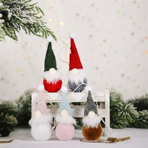 Decoración navideña Forestal Muñeca de fieltro anciano Colgante Creativo Nuevo Lindo Muñeca sin rostro Colgante para la decoración del hogar
