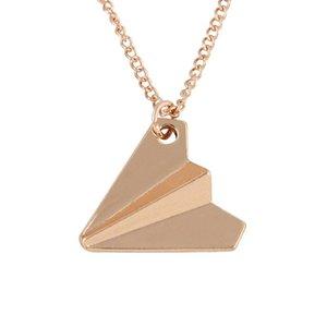 Origami Colar Plane Collier Aircraft Avião longa cadeia de jóias de papel colares Maxi Para Mulheres Colar apelativo