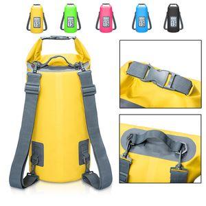 5L 10L 15L 20L PVC Waterproof Bags Storage Dry Bag For Canoe Kayak Rafting Outdoor Sport Swimming Bags Travel Kit Sack Backpack 201006