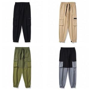 Vente chaude Hommes Sweatpants multi-poches Pantalons broderie Leisure Cargo Streetwear Hip Hop Harem taille élastique Pantalons Joggings