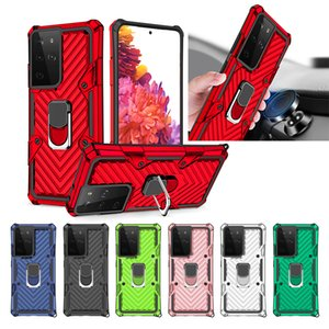 Hybrid Armor Ring Stand Magnetic Car Holder Shockproof Case For Samsung S21Plus Ultra A42 5G