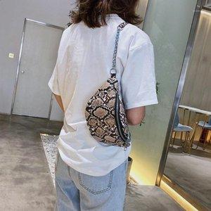 Mnycxen cintura sacos unisex moda serpentina banana saco serpentino bolsa de couro crossbody peito sacos esportes a301