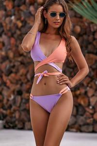 Easthome Bikini Set Yeni Kadın Katı Mayo Mayo Çok Yaz Plaj Giyim Kadın Düşük Bel Havuzu Mayo Biquini