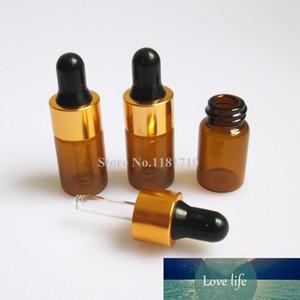 Wholesale 50pcs lot 3ml Glass Dropper Bottle Amber Glass Bottle with Latex Enssential Oil Bottle Storing Display Sample Bottles