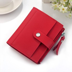 Short Wallet Women Wallets Cute Fashion Solid Hasp Coin Purse Card Holder Female Clutch Money Bag PU Leather Lady Purses