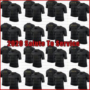 8 Lamar Jackson George Khittle Khalil Mack Jersey 2020 Saudação para Serviço Aaron Rodgers Jones Ceedee Lamb Ezequiel Elliott Juju Smith-Schuster