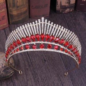 Baroque Headband Wedding Corona Bridal Tiara Accessori per capelli Peacock Gioielli Pavone Strass Crystal Crown Bride Queen Princess Crwon1