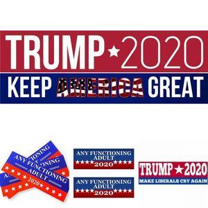 Trump Car 2020 7.6*22.9cm Bumper Keep Make America Great Again Sticker President General Election Vehicle Decal DHF1157