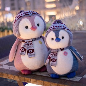 Stuffed 4Style Soft Scarf Toys Penguin Plush Cartoon Animal Doll Fashion Toy For Kids Baby Lovely Girls Christmas Birthday Gift