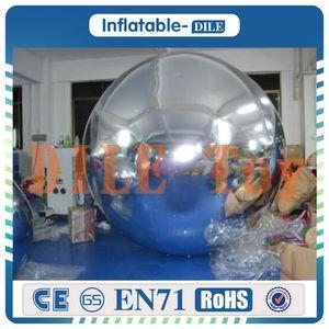 Freies Verschiffen von Tür zu Tür 1.0 m PVC aufblasbarer Glaskugel, aufblasbare Spiegelkugel, aufblasbarer Ballon Spiegel