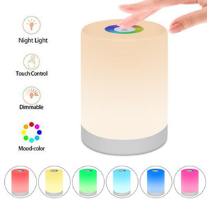 LED Light Bulb, USB Rechargeable Smart LED Touch Control Night Light Induction Dimmer Intelligent Portable Lamp Dimmable RGB Color Change