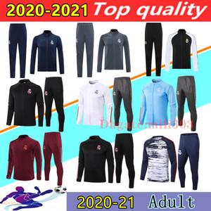 20 21 Реал Мадрид Футбол Трехгонки Куртки Chandal 2020 2021 Camiseta de Futbol Опасность Бензема Модрический Футбольный Куртс