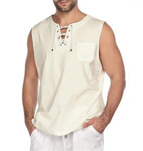 Vest Sleeveless Active Bandge Men's Tank Tops Summer Fashion Casual Vest New Solid Color Mens Designer
