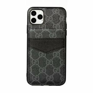 Cuir de mode pour l'iphone 12 Mini 12 11 Pro X XS Max 8 7 plus de luxe de protection anti-choc couverture Shell pour Galaxy Note 20 S20 S10 10