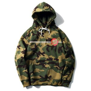 the New Autumn and Winter Hoodies Mens 20ss Brand hip-hop surf skateboard camouflage long sleeve hoodie loose sweater for men and women